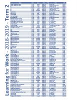 2018-2019 – TERM 2 – brochure E