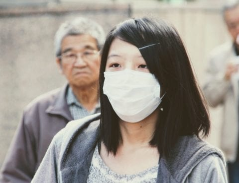 Woman with Facemask